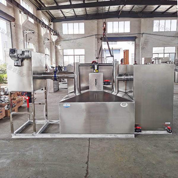 餐飲行業地下式隔油提升一體設備改造方案