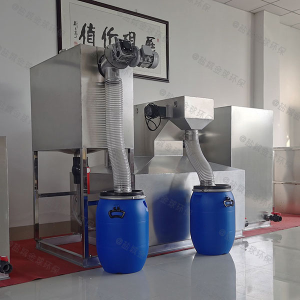 商家室外大半自动成品不锈钢隔油池方案