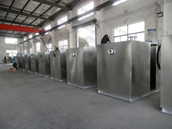 饮食业大型地面式智能型隔油污水提升设备停留时间