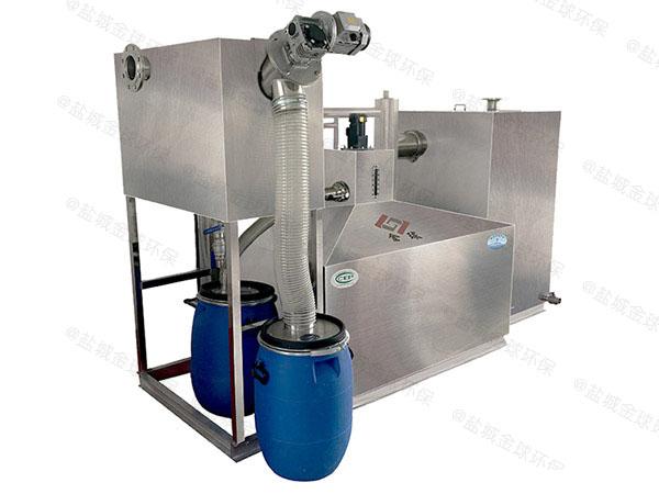 后厨地埋式大组合式不锈钢油水分离器的环保要求