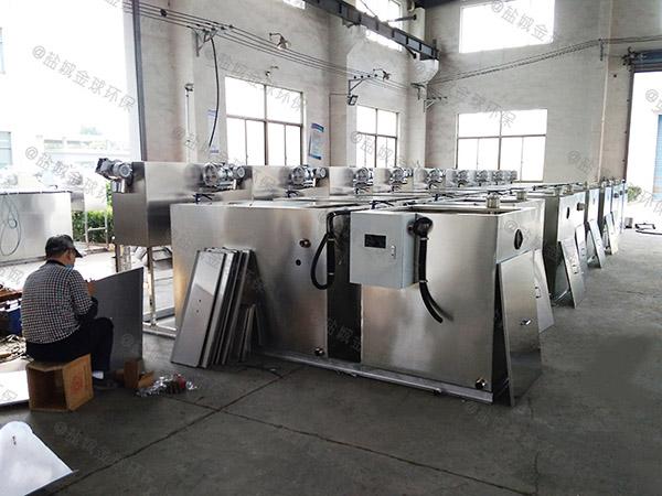 单位食堂8吨的长宽高用砖做隔油处理设备如何