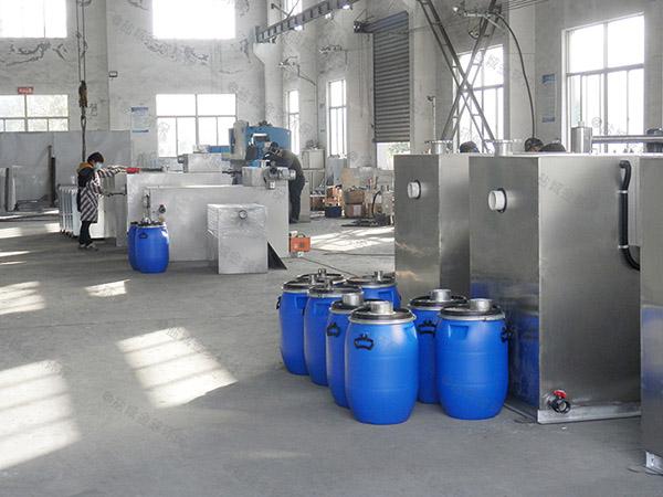 100人綜合體自動提升成品隔油池廠家