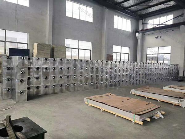 安裝戶外500人泔水油水分離凈化器