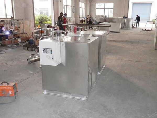 安裝火鍋專用500人密閉式水油分離處理設備