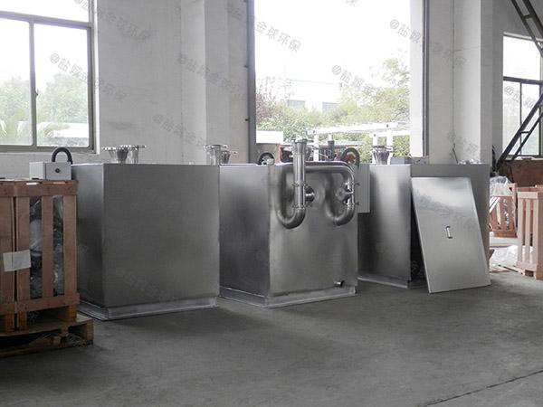 廚下型8噸的長寬高混凝土隔油凈化設備示意圖