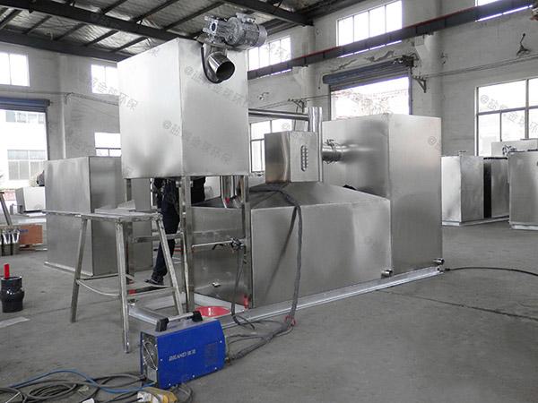 8吨的长宽高厨房洗菜盆下水潲水气浮式油水分离机的构造