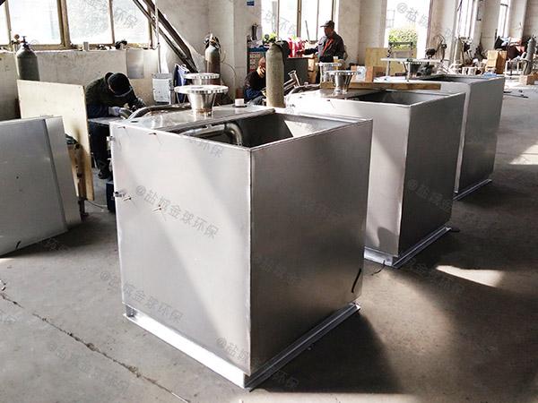 2.8米*1.2米*1.75米小餐飲店磚砌氣浮式油水分離機的規格