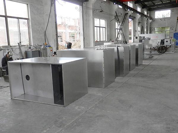 2.8米*1.2米*1.75米小餐館泔腳氣浮式隔油池的效率