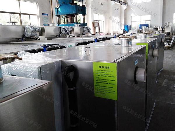 500人厨房下水潲水气浮式隔油池改造价格