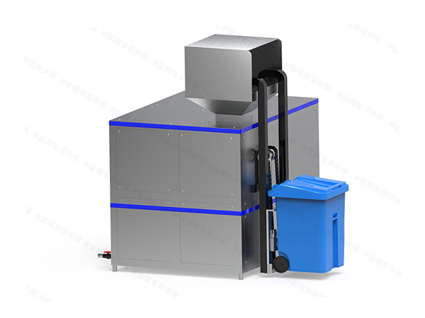 大小型机械式昭通餐厨垃圾破粹设备工艺流程图详解