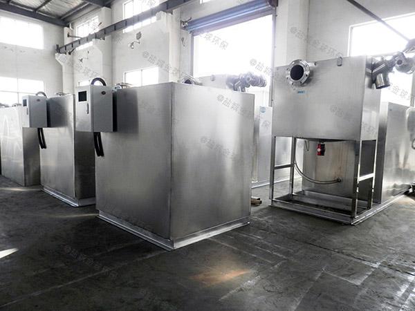 小餐飲店廢水自動排水隔油污水提升裝置的作法