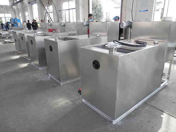 埋地自动化食堂垃圾油水分离处理设备施工方案